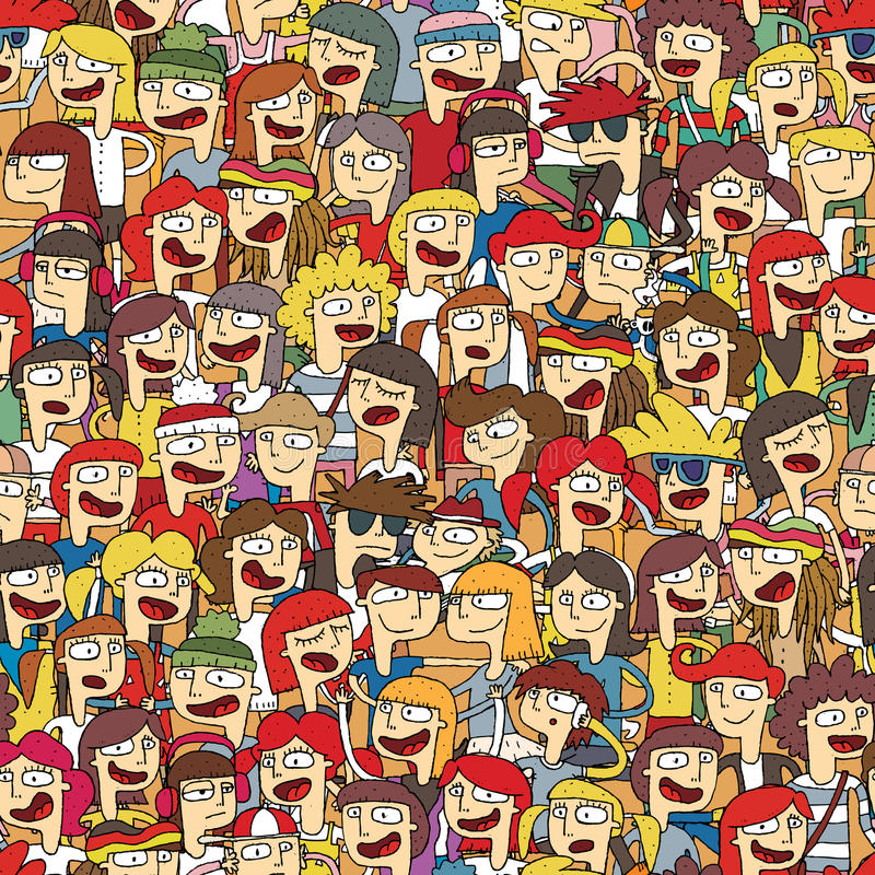 Singing children choir seamless pattern royalty free illustration