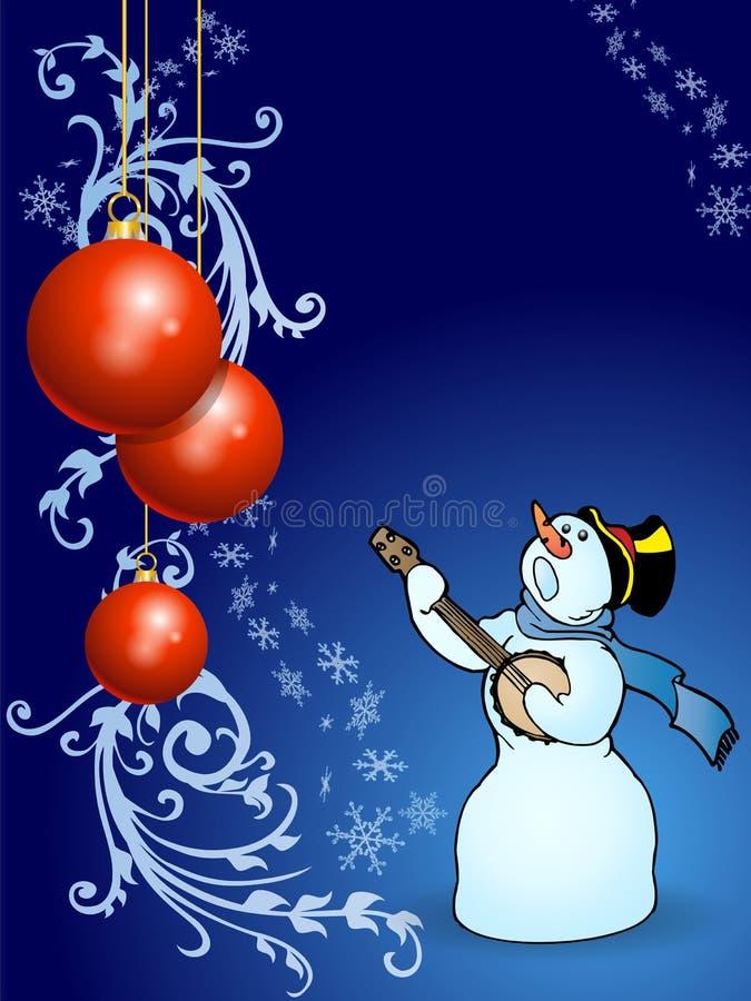 Singing on christmas night stock photo