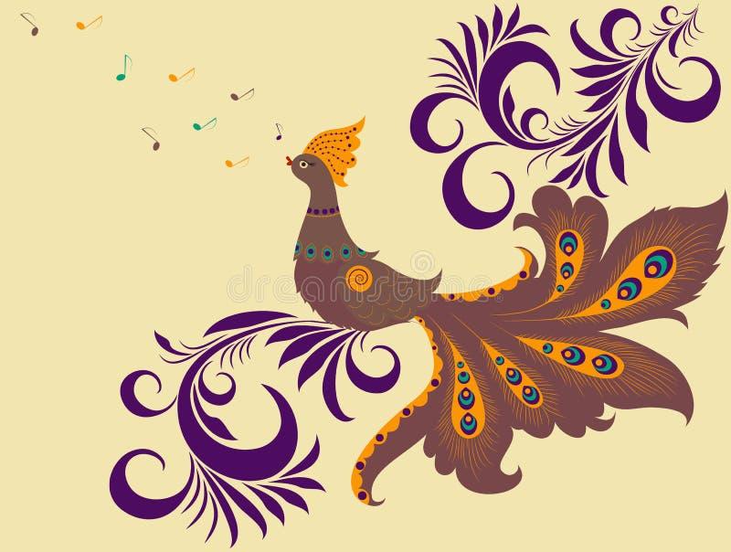 Download Singing colorful bird stock vector. Illustration of elegance - 22332685