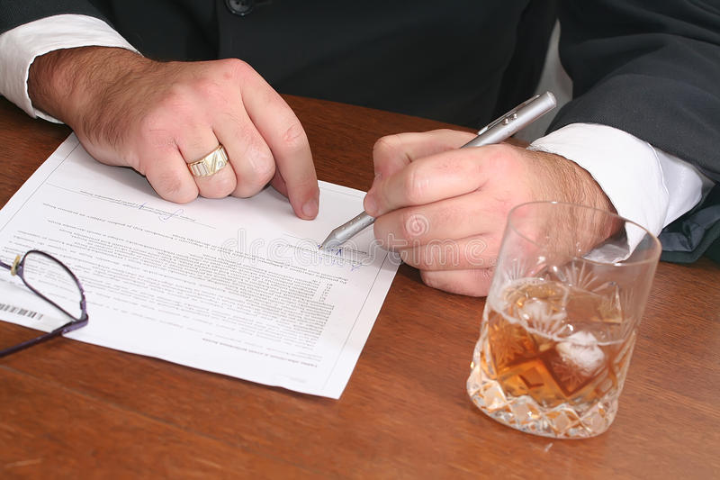 Download Singing contract stock photo. Image of finance, financial - 12022530
