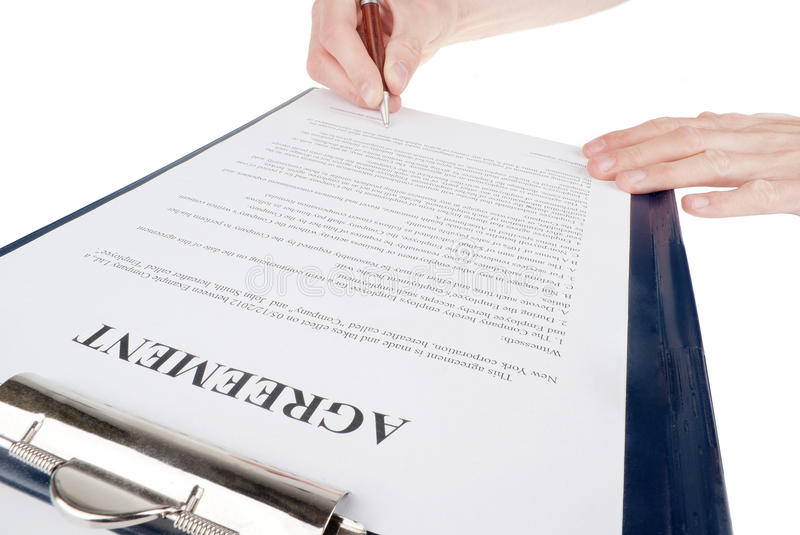 Download Singing The Contract (agreement) Stock Photo - Image: 34080260