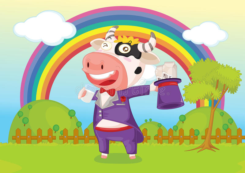 Singing cow royalty free illustration