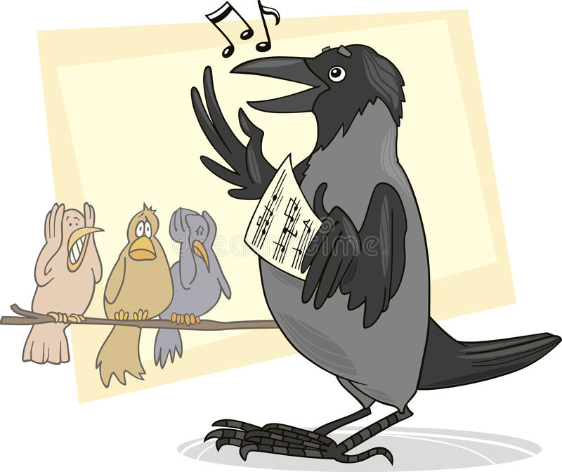 Download Singing crow stock vector. Image of melody, music, terrified - 15769866