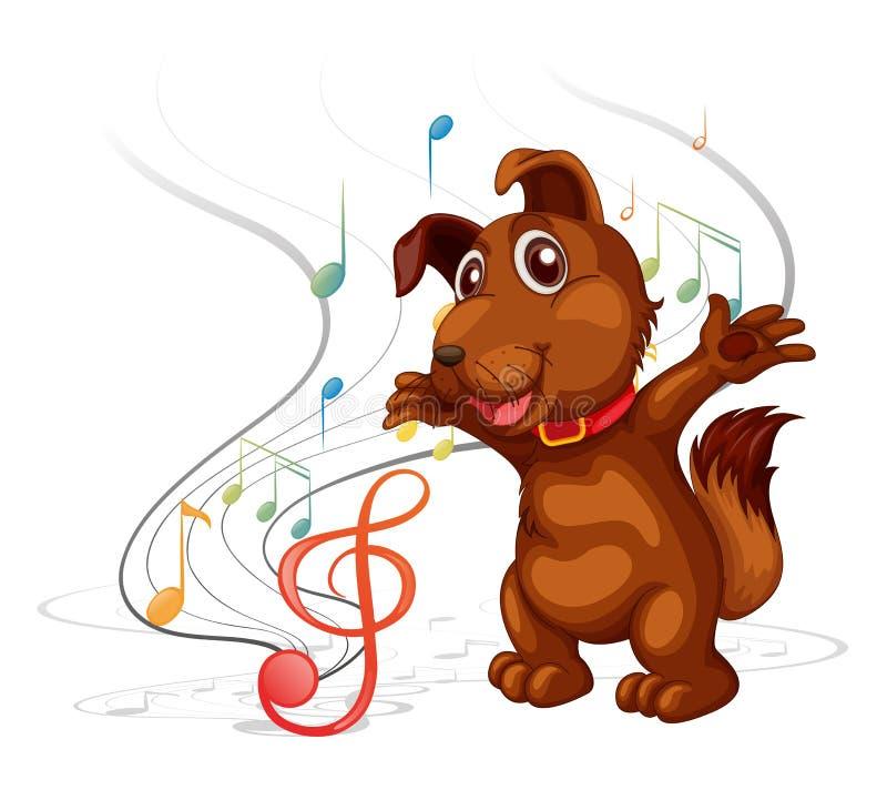 The singing dog. Illustration of the singing dog on a white background royalty free illustration