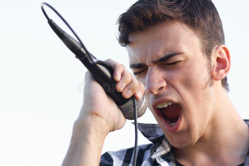 Download Singing expressive stock image. Image of grin, rock, musician - 26541077