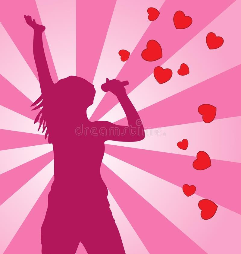Singing Female. Royalty Free Stock Photos