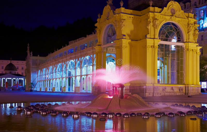 Download Singing Fountain at night stock image. Image of fontain - 10016767