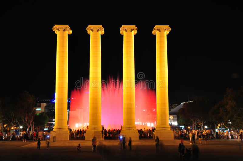 Singing fountains. Barcelona. royalty free stock photo