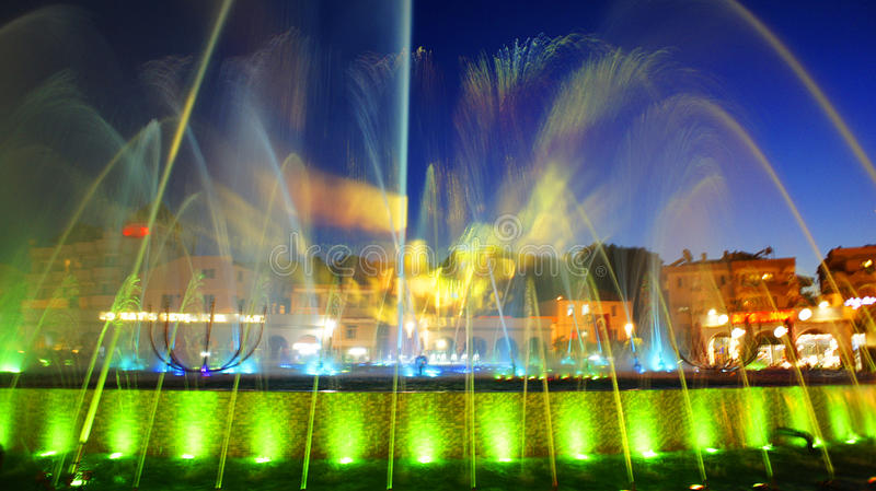 Singing fountains stock photo