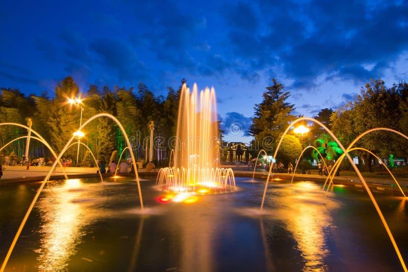 Singing fountains royalty free stock photos