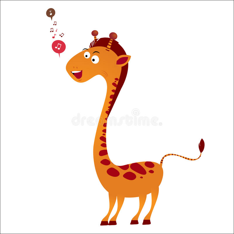 Download Singing giraffe stock illustration. Image of nice, illustration - 20846591