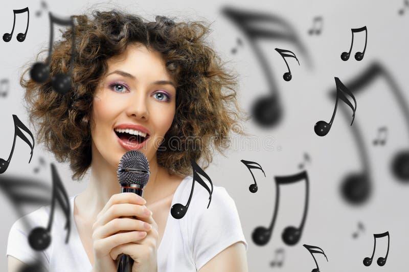 Singing girl royalty free stock photo