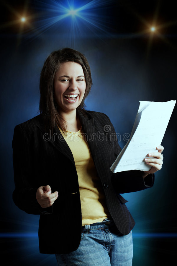 Download Singing Girl Stock Photography - Image: 7307782