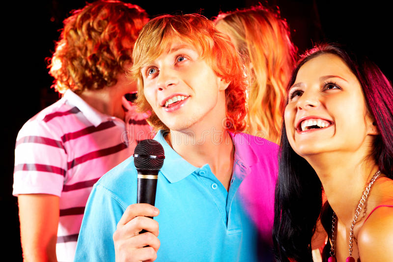Download Singing guy stock photo. Image of background, clubber - 16047746
