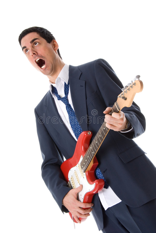 Singing man stock photography