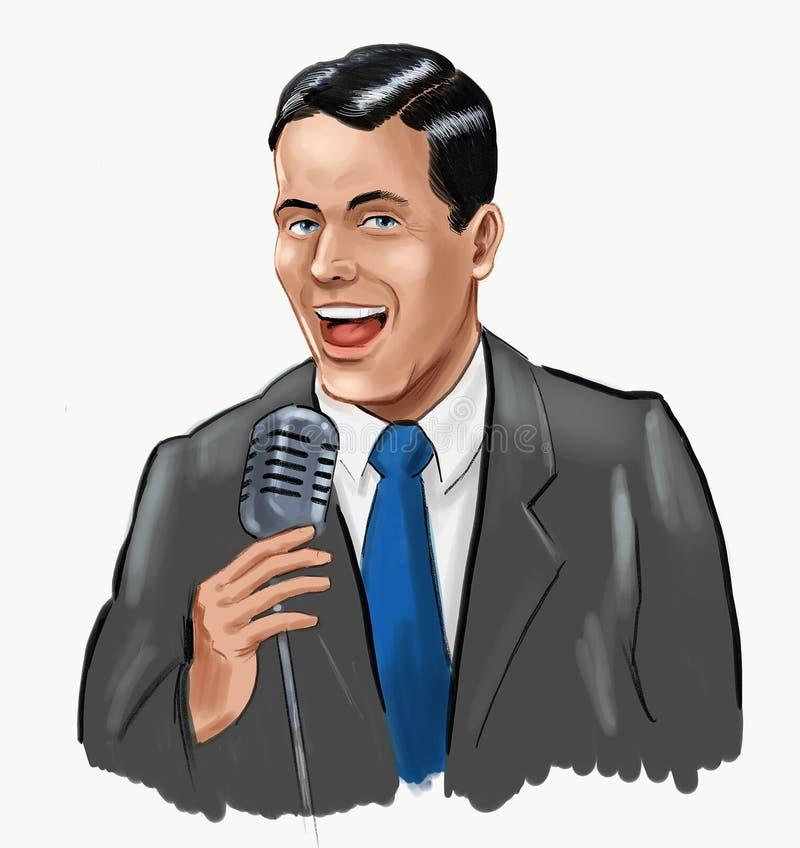 Singing man royalty free illustration