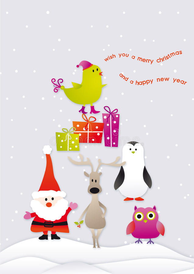 Singing merry christmas royalty free stock photos