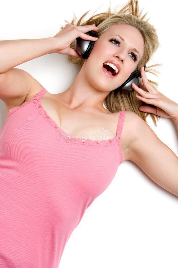 Download Singing Music Woman stock image. Image of down, girl, pink - 5911457
