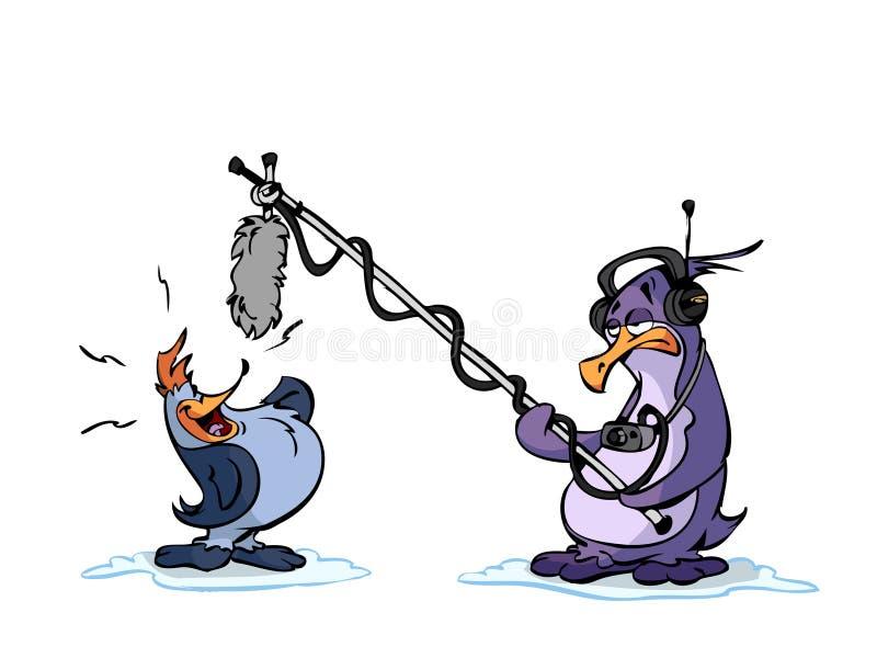 Download Singing Penguin stock illustration. Illustration of character - 12740759