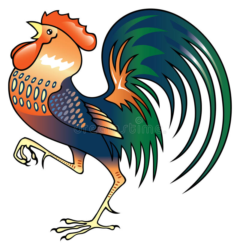 Download Singing Rooster stock vector. Image of bird, clear, morning - 15273455