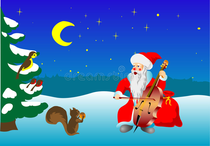 Singing Santa royalty free illustration