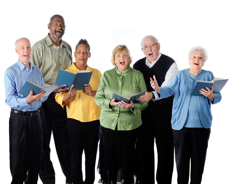 Singing Seniors royalty free stock image