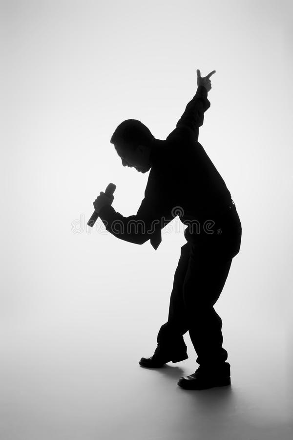 Download Singing silhouette stock photo. Image of crazy, cute - 16360678