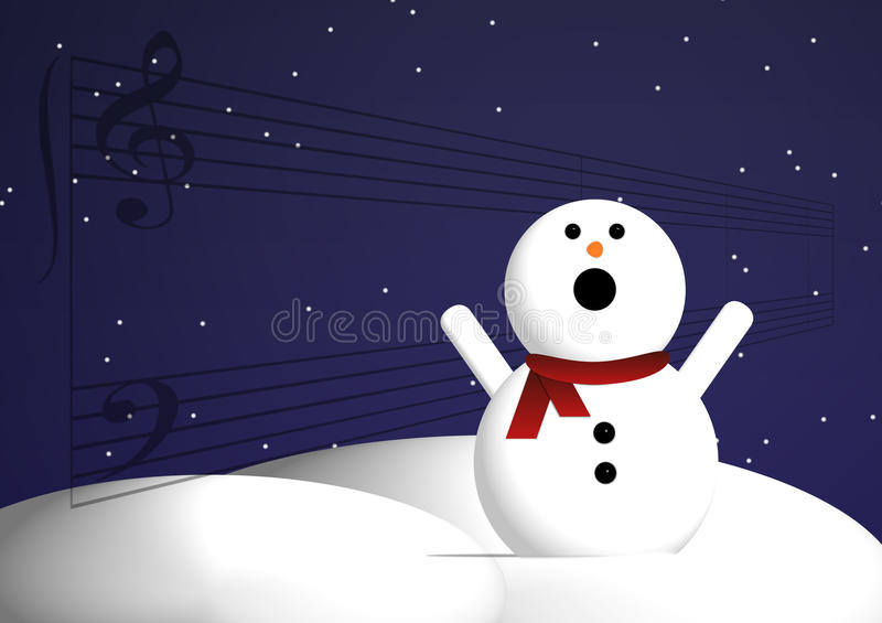 Download Singing snowman stock vector. Image of snow, loud, drawing - 11978875