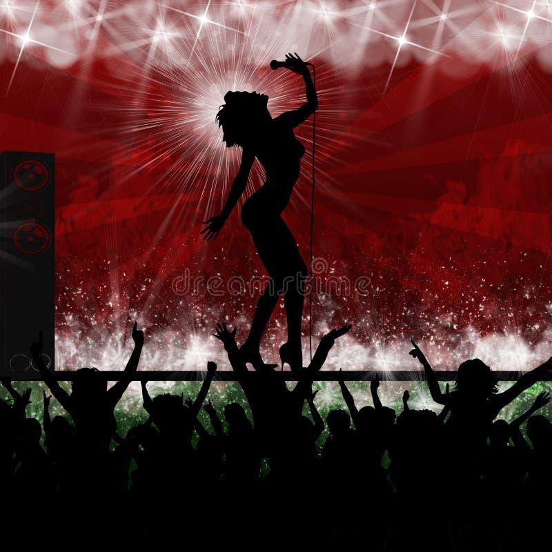 Singing star music party performance stock illustration