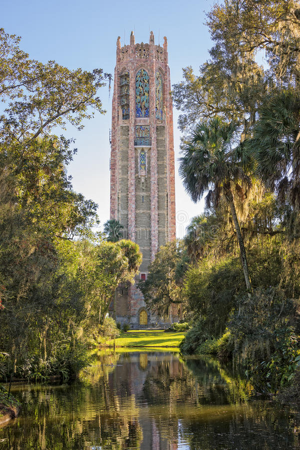 The Singing Tower At Bok Gardens. The Singing Tower In Bok Gardens Near Lake Wales Florida stock image