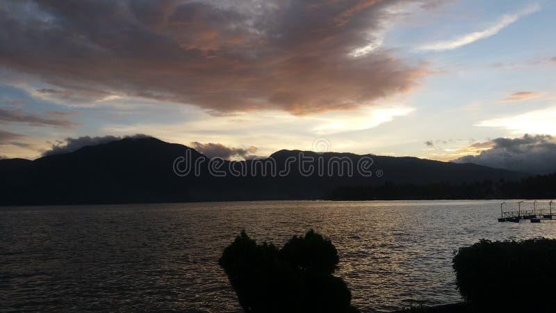 Singkarak lake royalty free stock image
