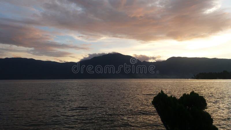 Singkarak sjö royaltyfria foton
