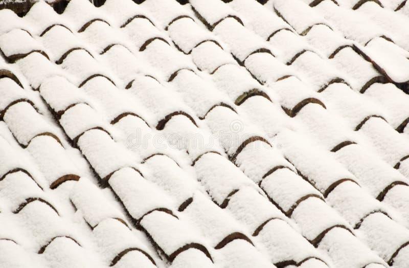 Singlar taklägger dolt med snö som modell royaltyfri bild
