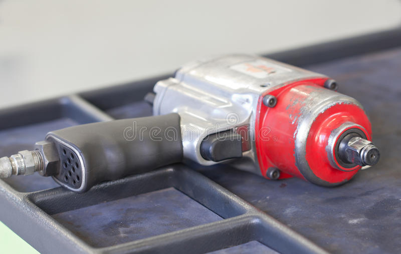 Single Air Impact Wrench. Close Up Single Air Impact Wrench stock photos