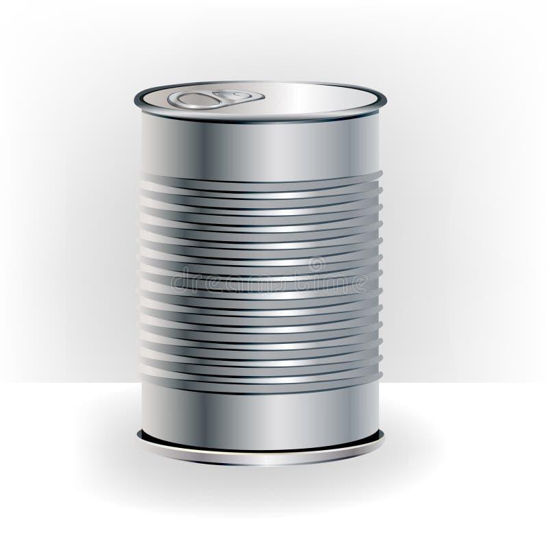 Single aluminum food can royalty free illustration