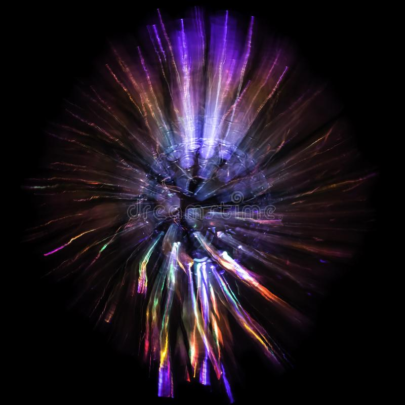 A Single Atom Exploding Throwing Out Light In All Directions royalty free stock photos