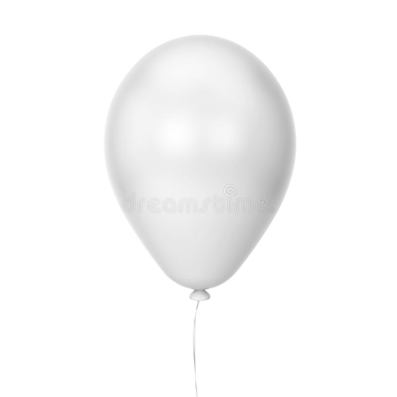Single baloon. 3d illustration isolated on white background vector illustration