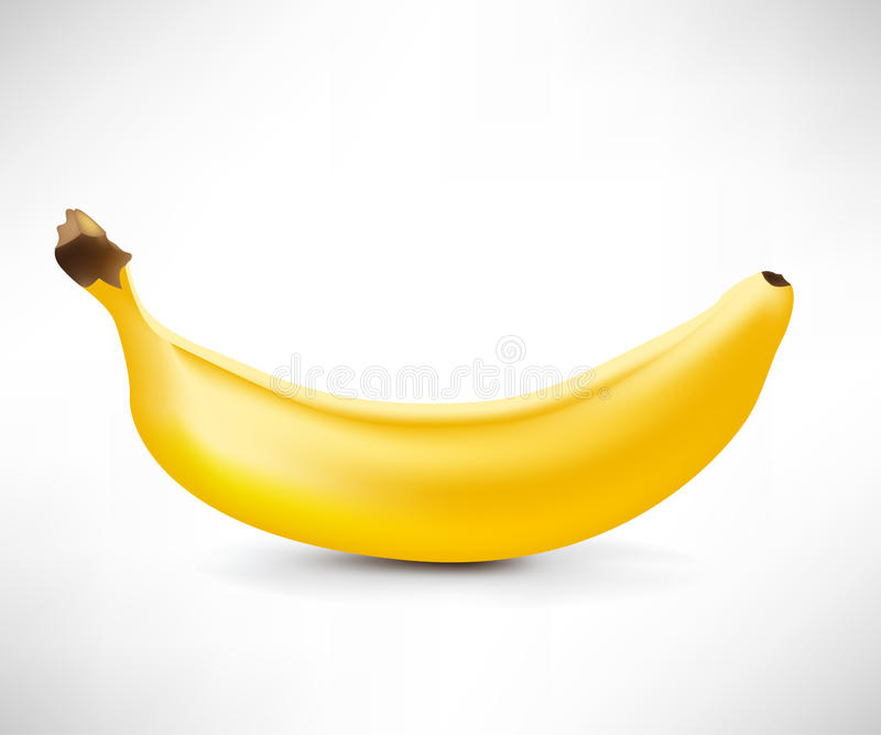 Single banana stock illustration