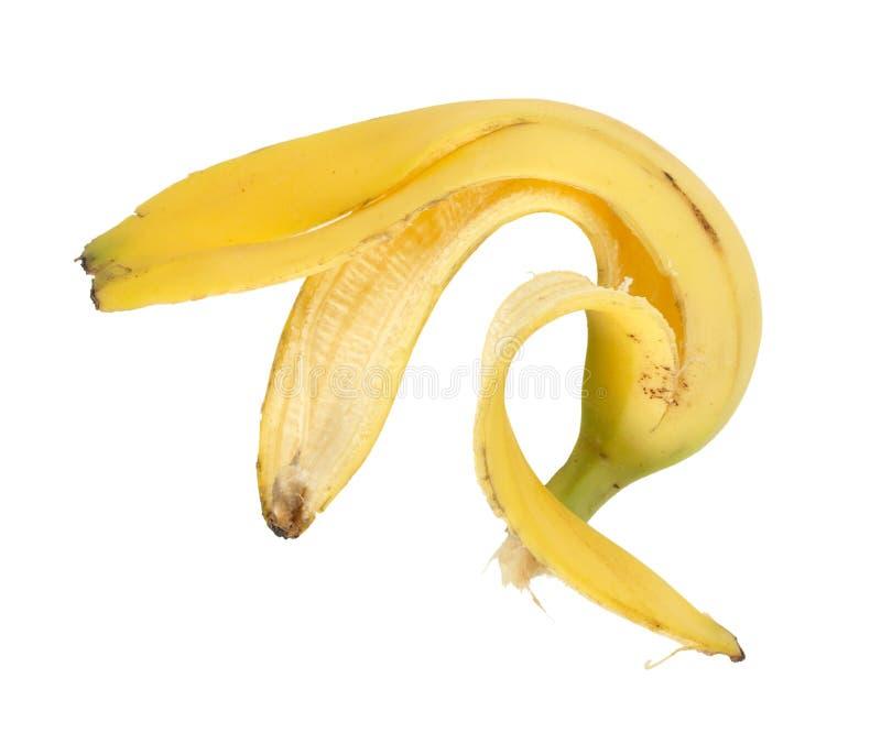 Single banana peel royalty free stock images