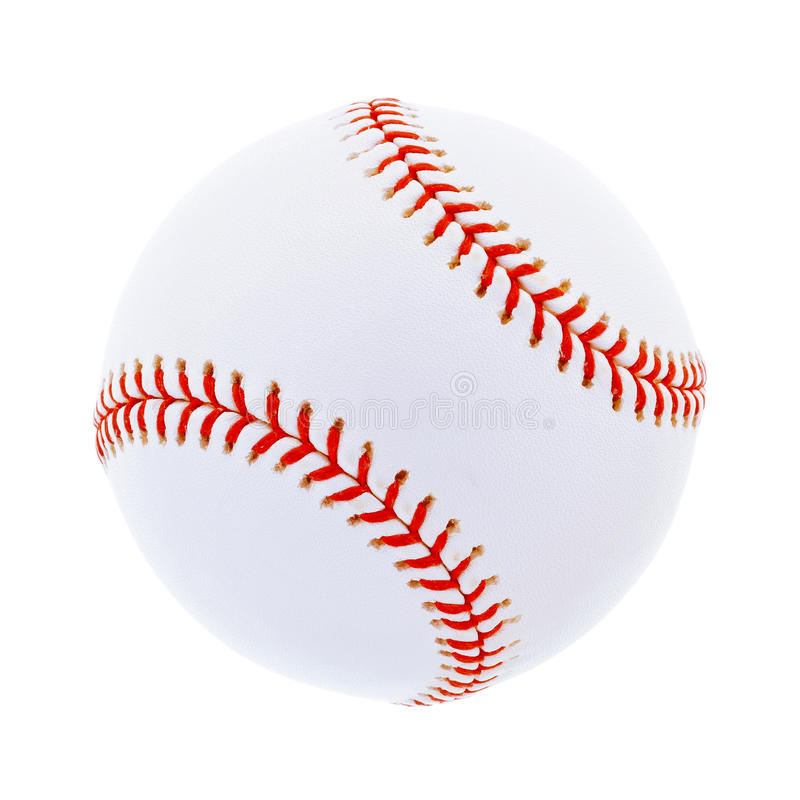 Download Single Baseball, Isolated On White Royalty Free Stock Photo - Image: 28404825