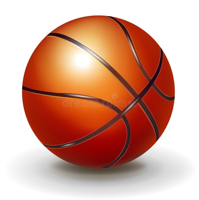 Single basketball vector illustration