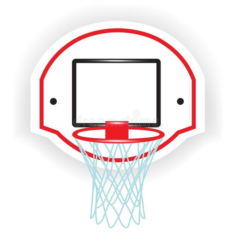 Single basketball ring vector illustration