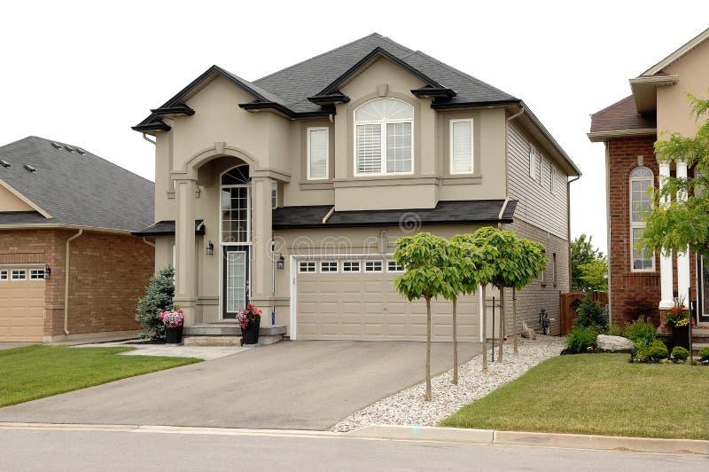 Single beautiful two story big new house royalty free stock photo