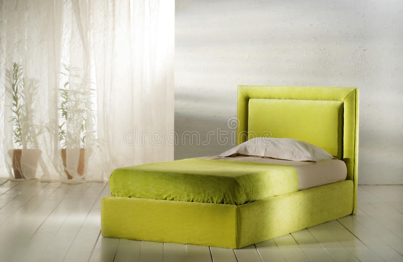 Single bed stock photos