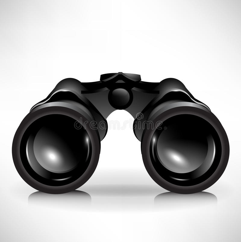 Single binoculars royalty free illustration