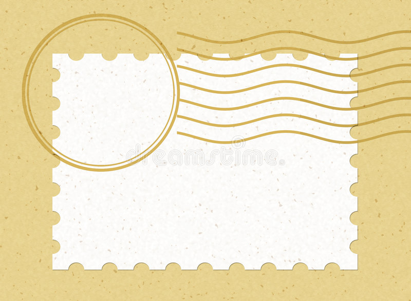 Single blank stamp horizontal vector illustration