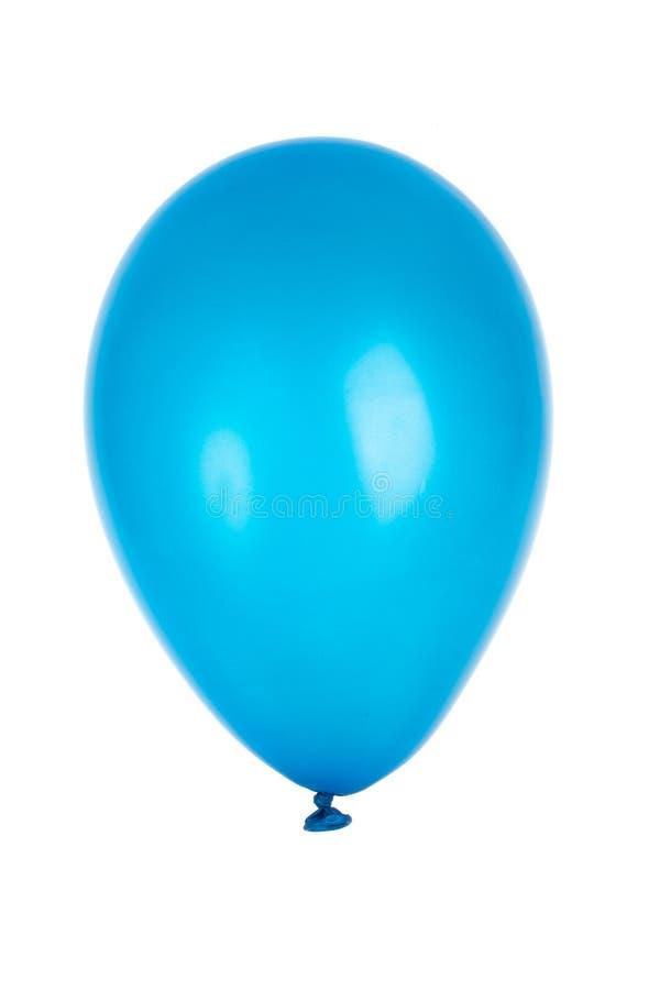 Single blue balloon. Isolated on white royalty free stock photos
