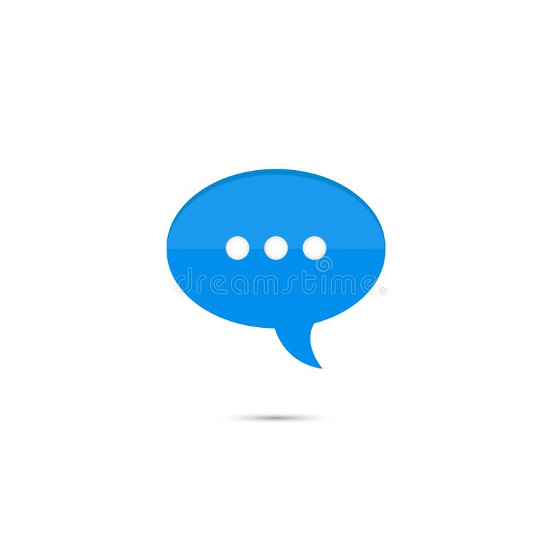 Single blue chat bubble icon royalty free illustration