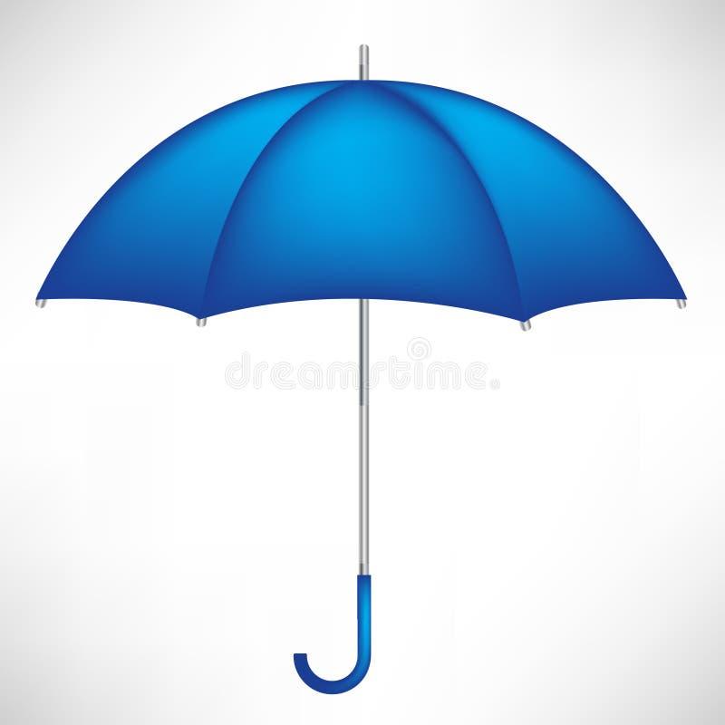 Single blue umbrella stock illustration