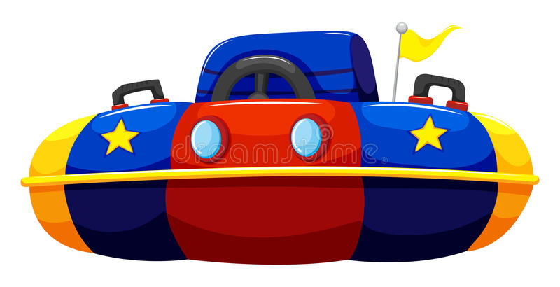 Single bump car with flag royalty free illustration